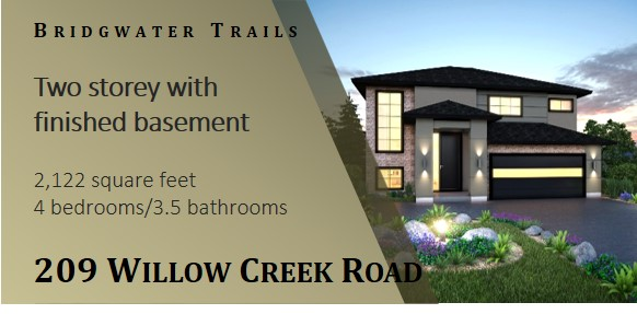 Show home in Bridgwater Trails
