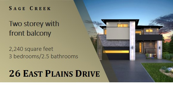 Show home on East Plains Drive in Sage Creek